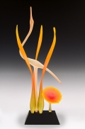 lone-crane-tangarine-w-orange-burst-flower